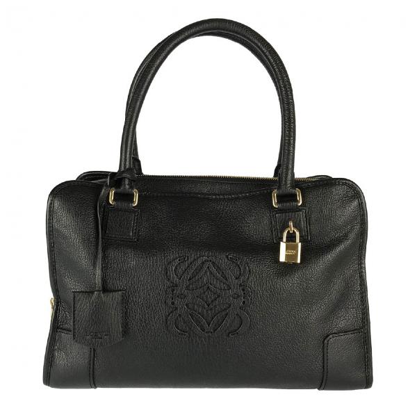 Loewe Amazona Black Leather Handbag