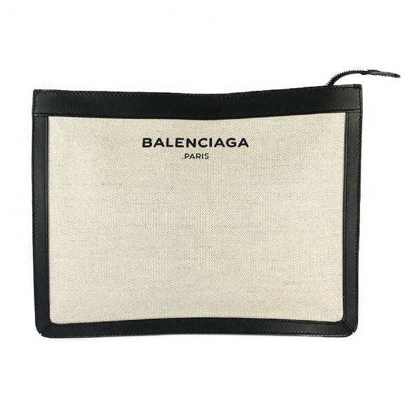 Balenciaga Ecru Cloth Clutch Bag