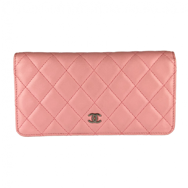 Chanel Pink Leather Wallet