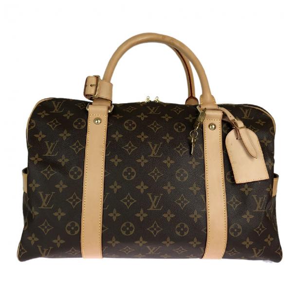 Louis Vuitton Brown Cloth Travel Bag
