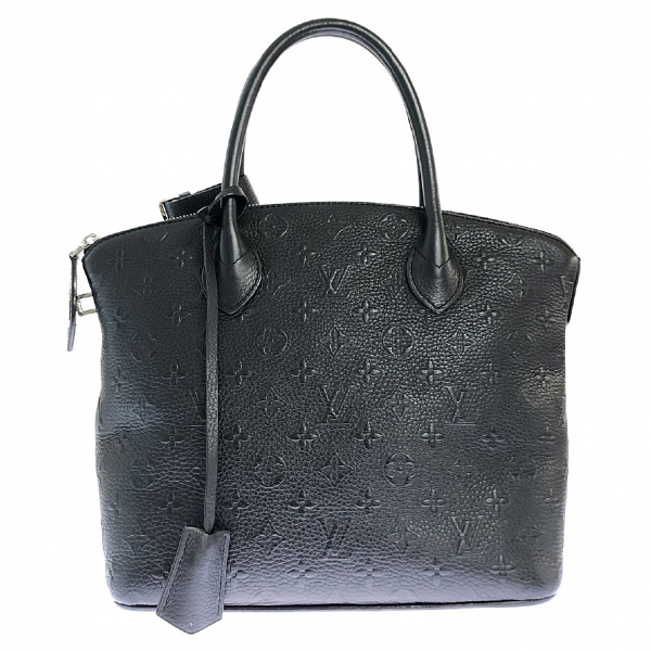 Louis Vuitton Lockit Black Leather Handbag