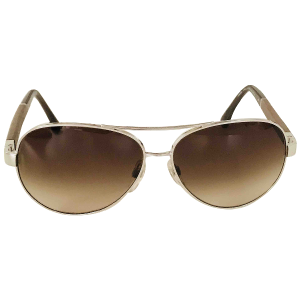 Chanel Beige Metal Sunglasses