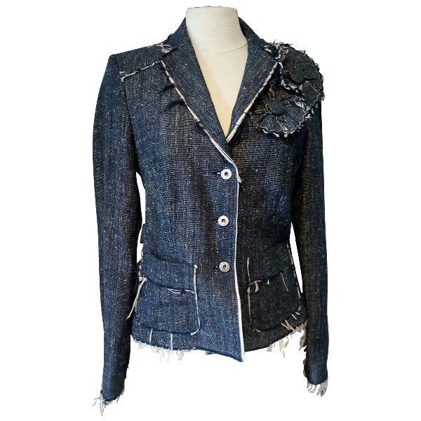 Moschino Cheap And Chic Blue Cotton Jacket