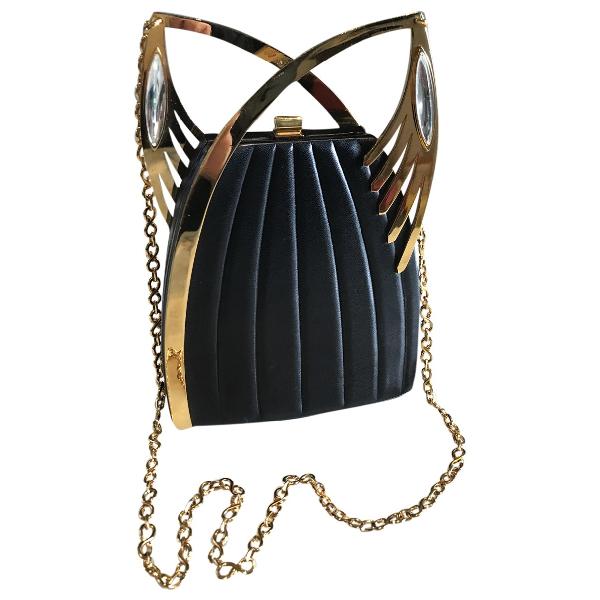 Lalique Black Leather Handbag
