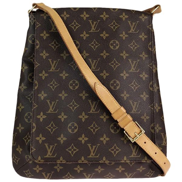 Louis Vuitton Musette Tango  Brown Cloth Handbag