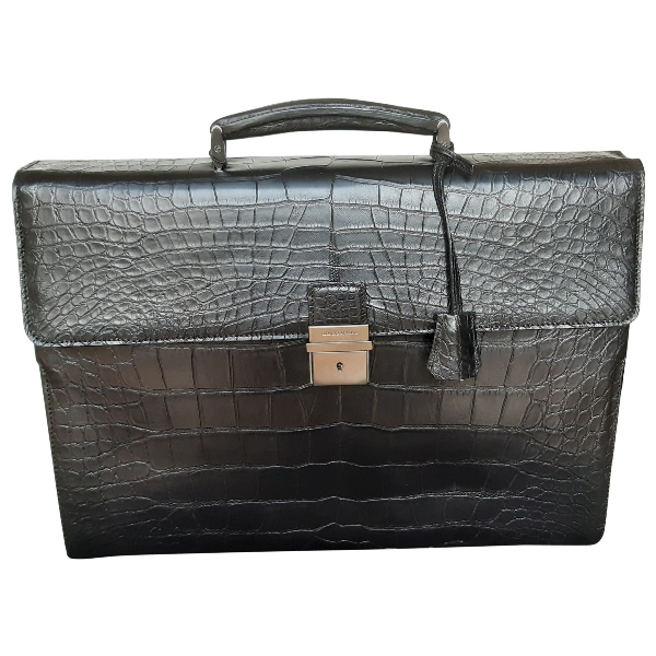 Giorgio Armani Black Crocodile Bag