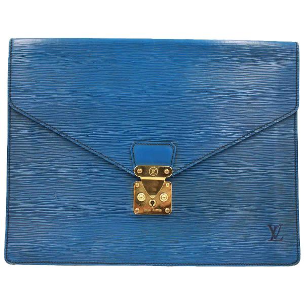 Louis Vuitton Blue Leather Purses, Wallet & Cases