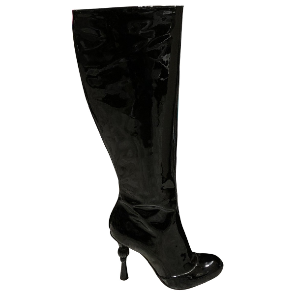 Dolce & Gabbana Black Patent Leather Boots
