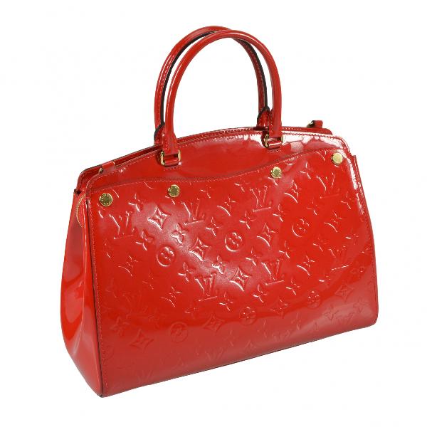 Louis Vuitton BrÉa Red Patent Leather Handbag