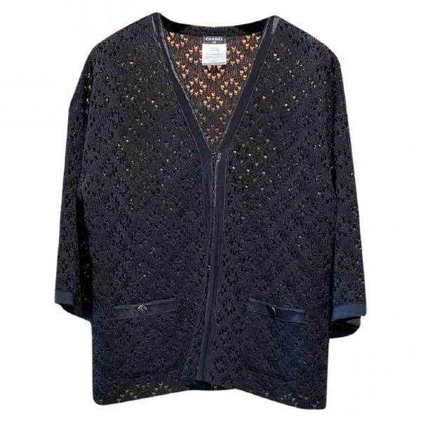 Chanel Black Silk Knitwear