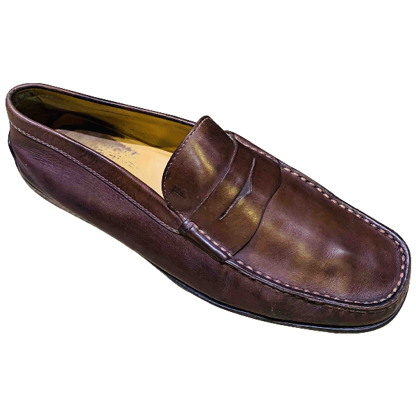 Tod's Brown Leather Flats
