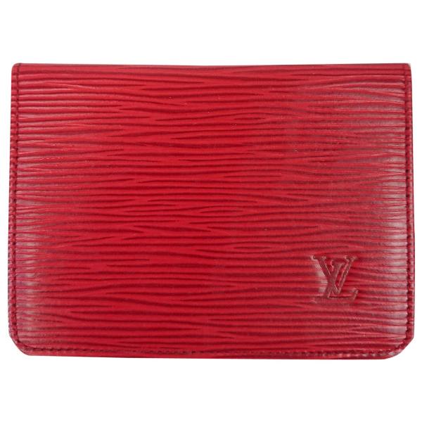 Louis Vuitton Red Leather Purses, Wallet & Cases
