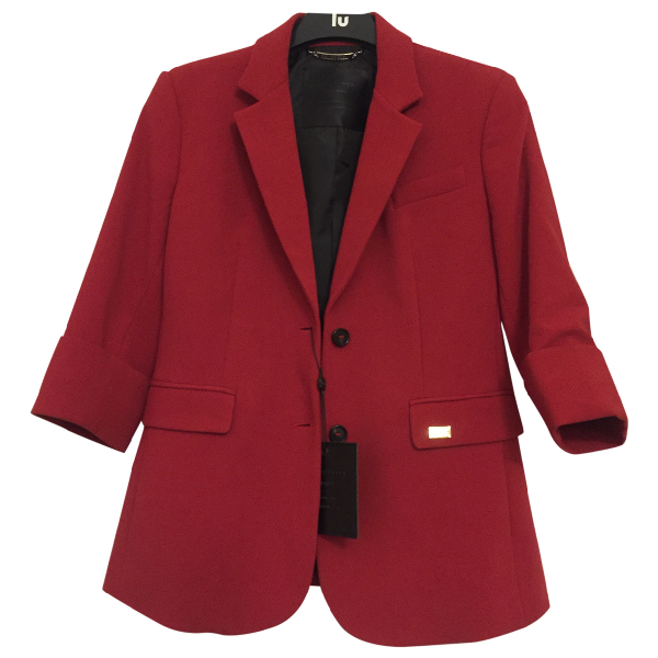 Philipp Plein Red Wool Jacket