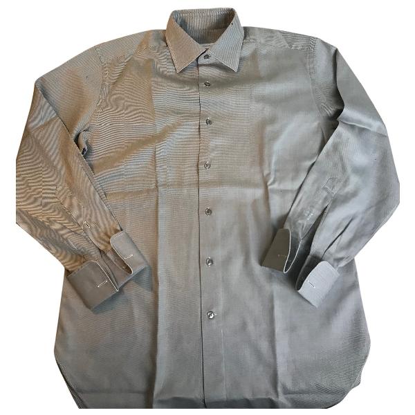 Ermenegildo Zegna Grey Cotton Shirts