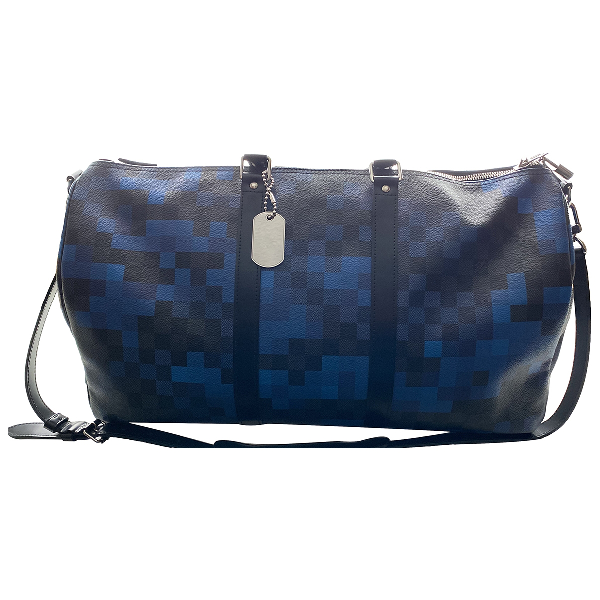 Louis Vuitton Keepall Blue Cloth Bag