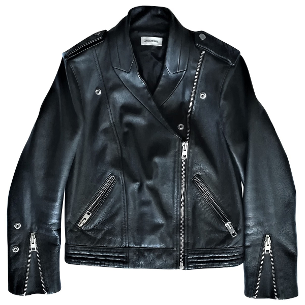 Zadig & Voltaire Black Leather Leather Jacket