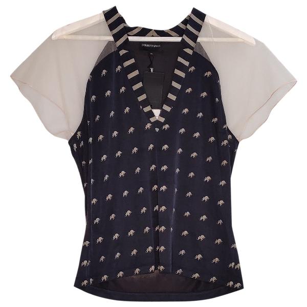 Emporio Armani Navy Silk  Top