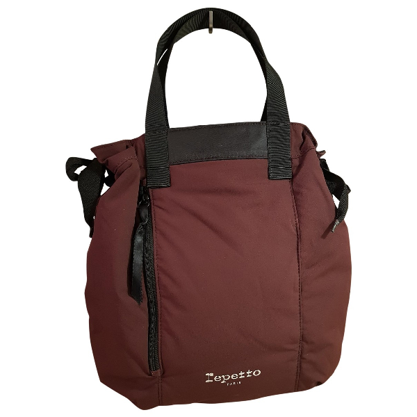 Repetto Burgundy Cotton Handbag