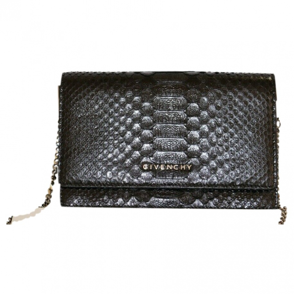 Givenchy Black Python Clutch Bag
