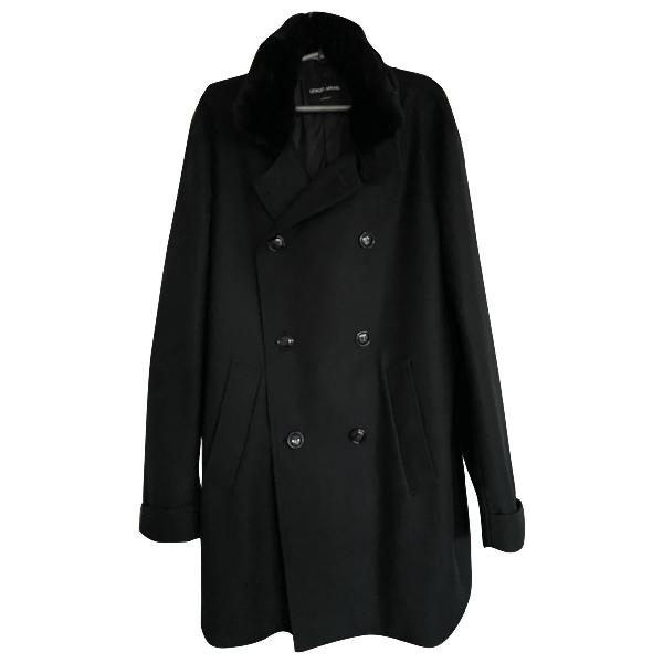 Giorgio Armani Black Fur Coat