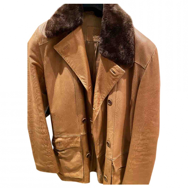Loewe Brown Exotic Leathers Coat