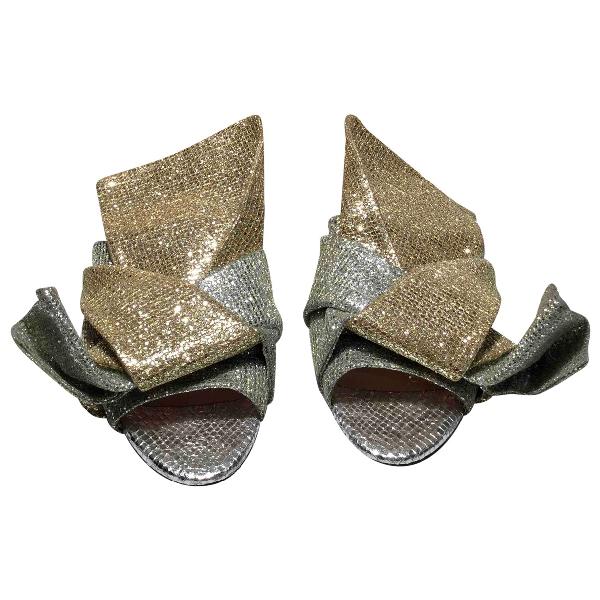 N°21 Multicolour Glitter Sandals