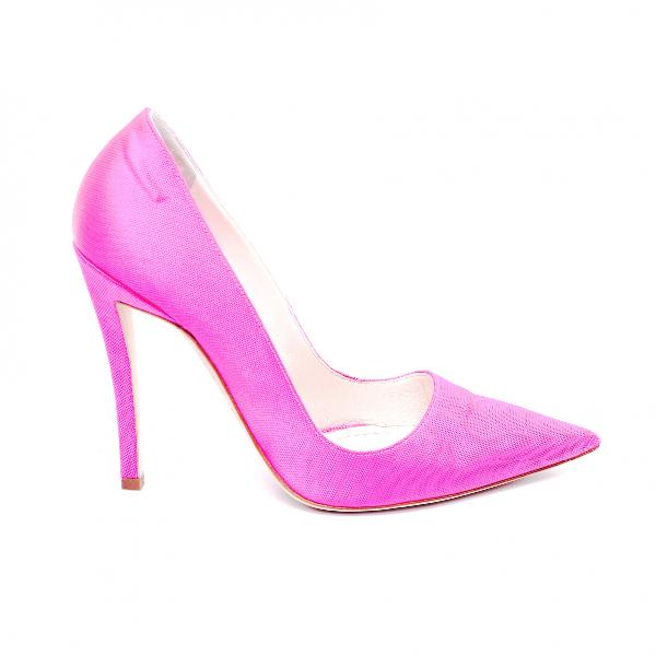Dior D-stiletto Pink Cloth Heels