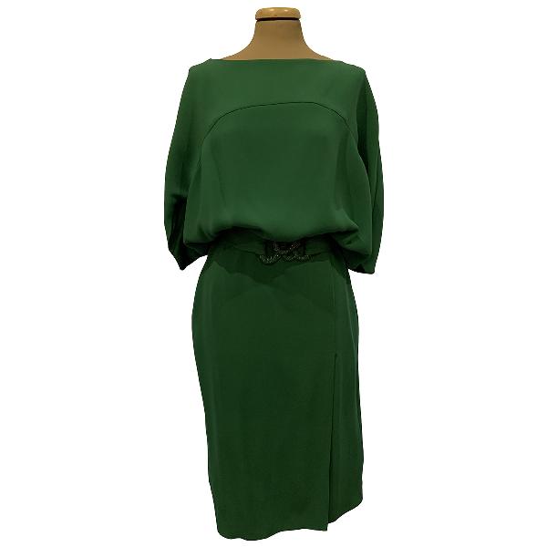 Valentino Green Silk Dress