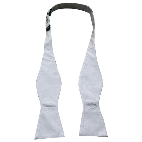 Balmain White Silk Ties