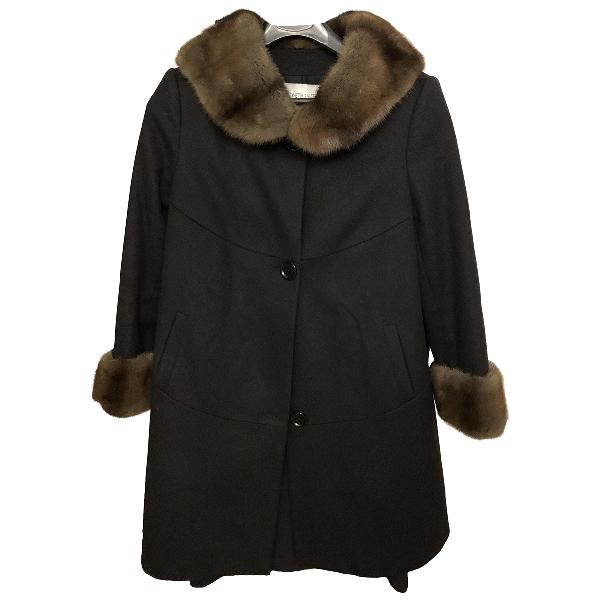 Simonetta Ravizza Brown Wool Coat