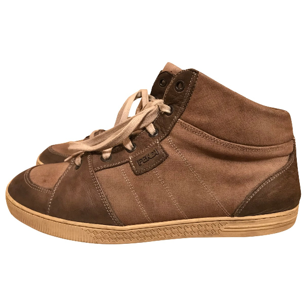 Fendi Brown Suede Trainers