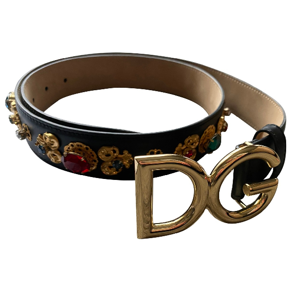 Dolce & Gabbana Multicolour Leather Belt