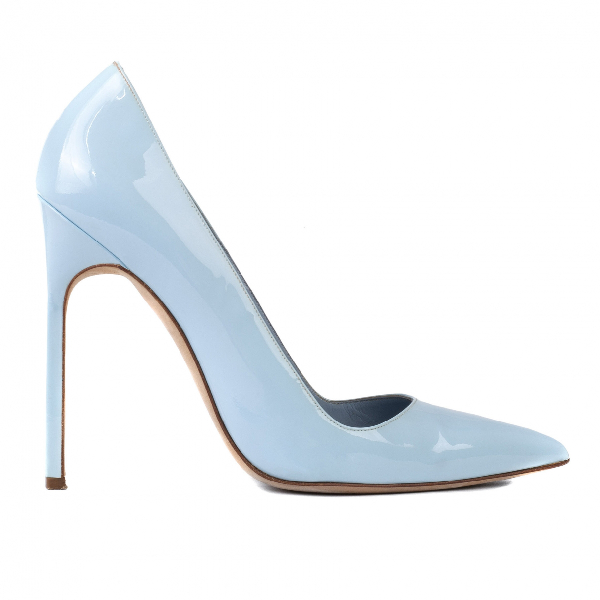Manolo Blahnik Blue Patent Leather Heels