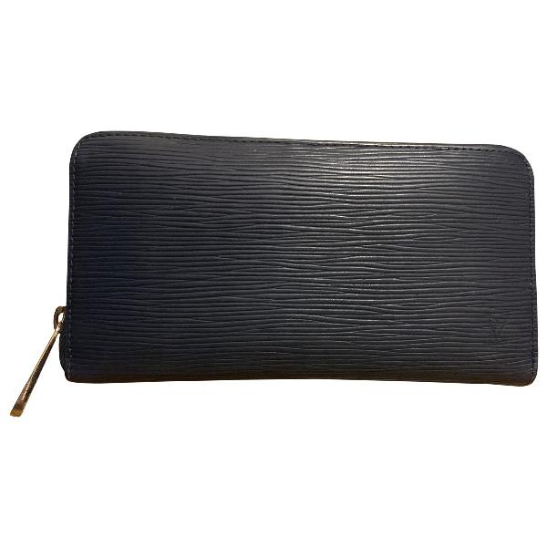 Louis Vuitton Navy Leather Wallet