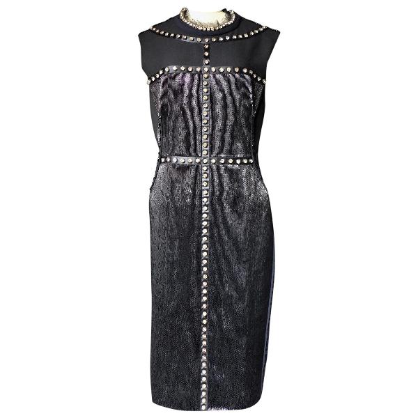Lanvin Black Glitter Dress