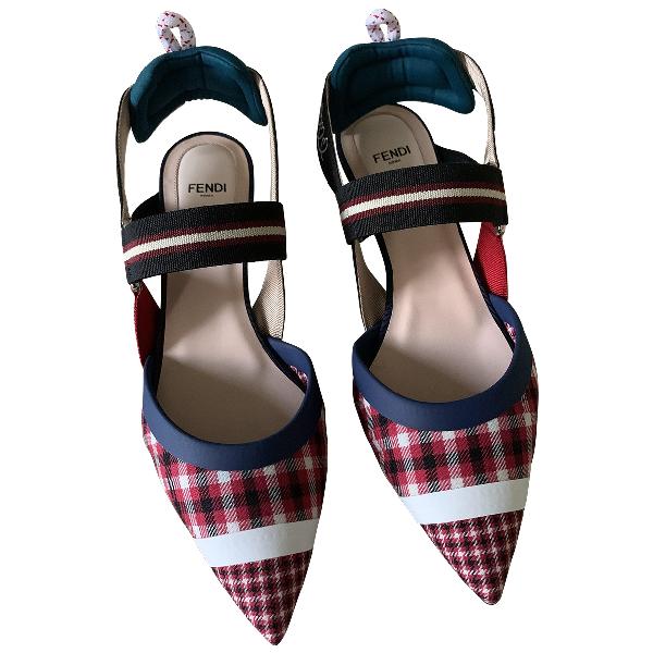 Fendi Colibri Multicolour Cloth Heels