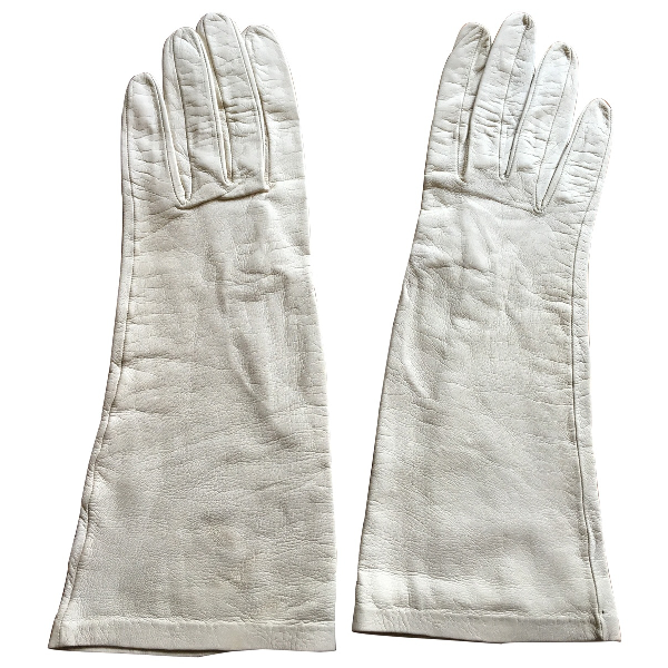 Dior Beige Leather Gloves