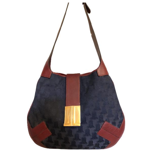 Lanvin Navy Cloth Handbag