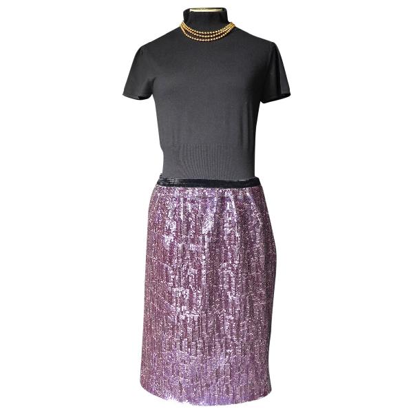 Lanvin Purple Glitter Skirt