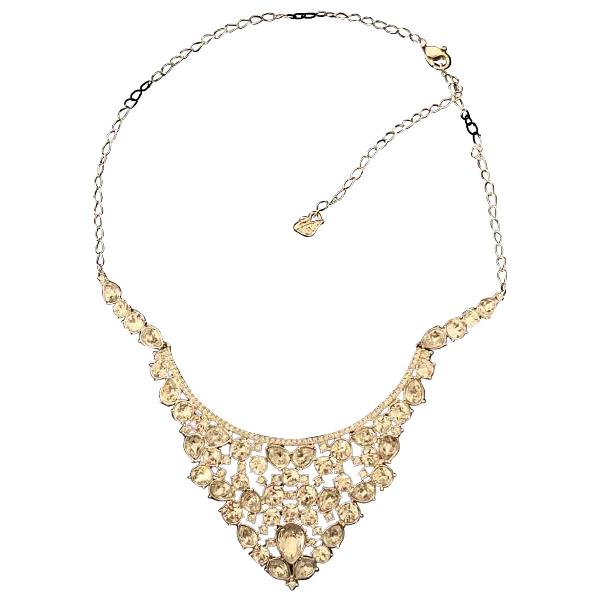 Swarovski Gold Metal Necklace