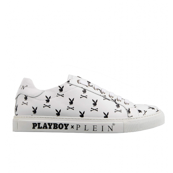 Philipp Plein White Leather Trainers