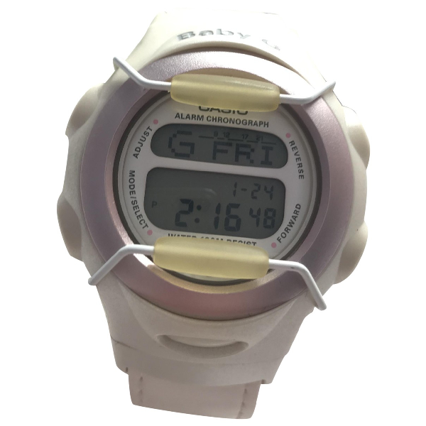 Casio White Steel Watch