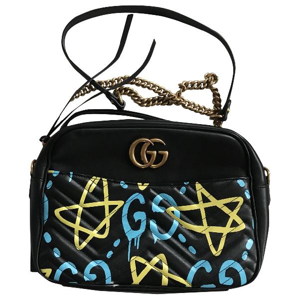 Gucci Marmont Black Leather Handbag