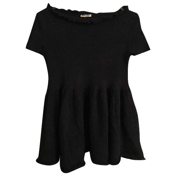 Miu Miu Black Wool Knitwear