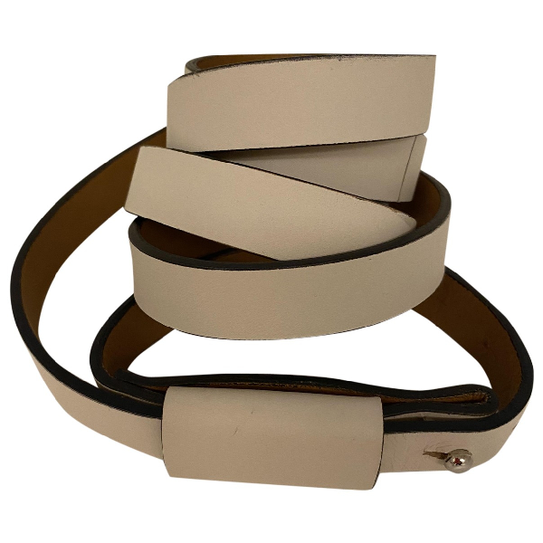 Atp Atelier White Leather Belt