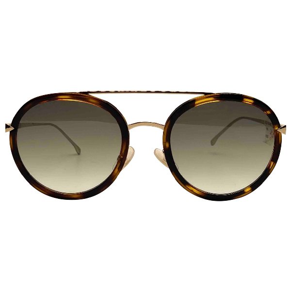 Fendi Gold Metal Sunglasses