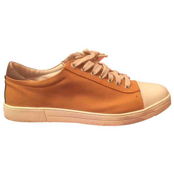 Salvatore Ferragamo Camel Cloth Trainers