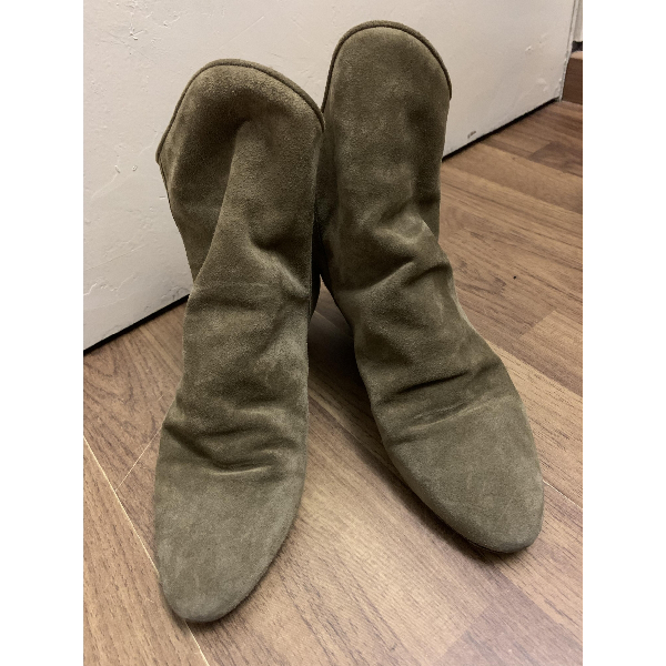 Isabel Marant Green Suede Ankle Boots