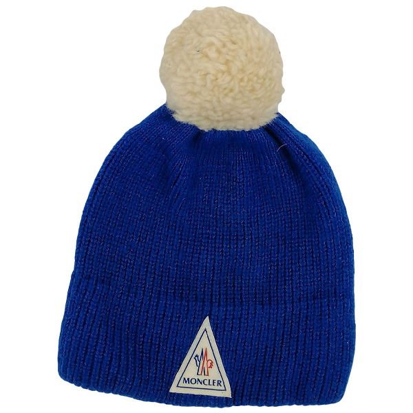 Moncler Blue Wool Hat & Pull On Hat