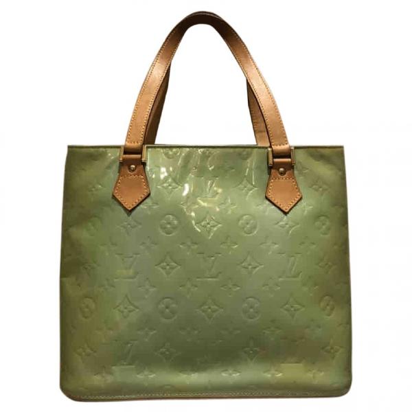 Louis Vuitton Houston Turquoise Patent Leather Handbag